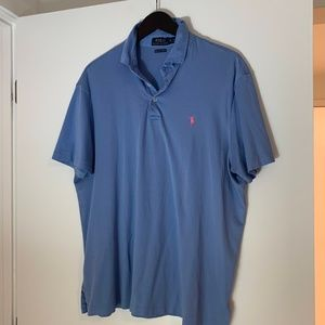 Polo Ralph Lauren Blue Classic-Fit Soft-Touch Polo